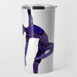 Dancer Zentangle in Purple Travel Mug
