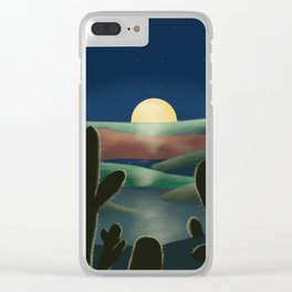 Desert land Clear iPhone Case
