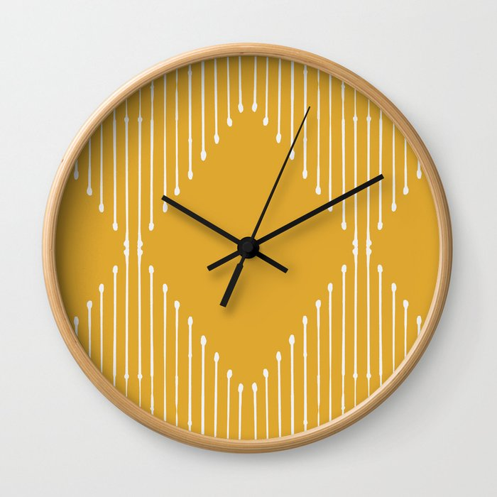Geo / Yellow Wall Clock