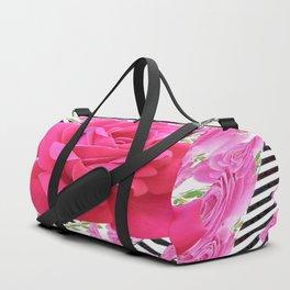 MODERN ABSTRACT CERISE PINK ROSE GARDEN  ART Duffle Bag