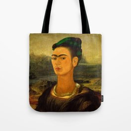 Frida Kahlo's Mona Lisa Tote Bag