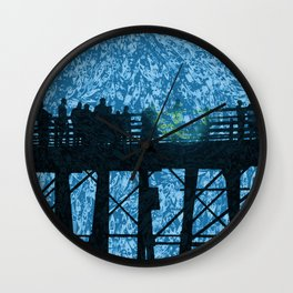Pier Fishing Wall Clock