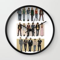 cargline Wall Clocks featuring Character Line Up by cargline