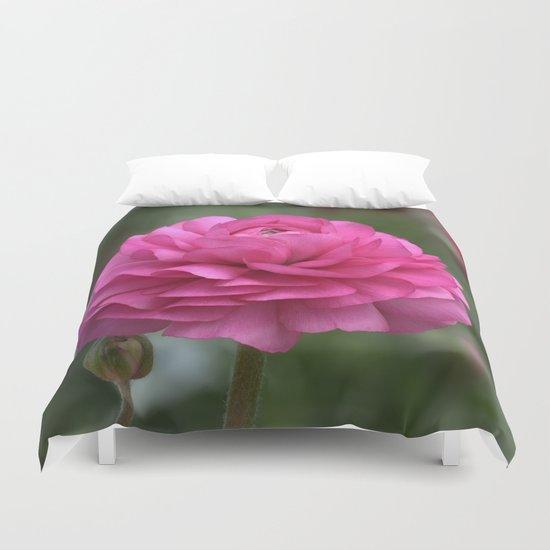 Ranunculus Pink Duvet Cover