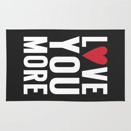 Love You More {dark} Rug