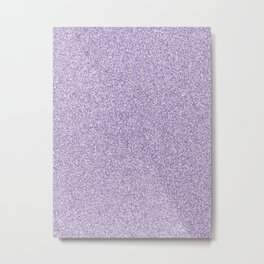 Melange - White and Dark Lavender Violet Metal Print