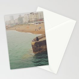 Green Brighton Sea Stationery Cards