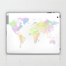 Pastel & White World Map Laptop & iPad Skin