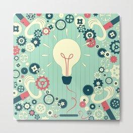 Teamwork makes big ideas shine brighter Metal Print