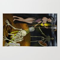 skeleton Area & Throw Rugs featuring Skeleton by Egberto Fuentes