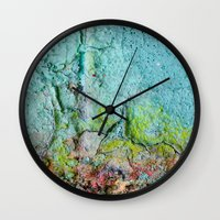 atlas Wall Clocks featuring Atlas by Angela Fanton