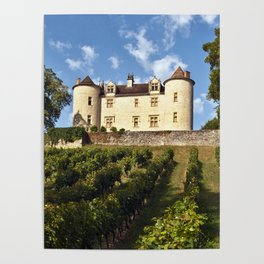 Medieval Castle in South West France Poster