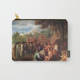 Classical Masterpiece 'The Treaty of Penn with the Indians' by Benjamin West Carry-All Pouch