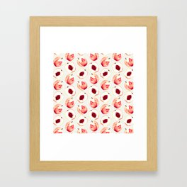 Pink Peach Pattern I Framed Art Print