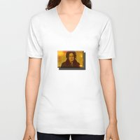jack white V-neck T-shirts featuring Jack White by yahtz designs