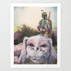 A Boy and His Dog Art Print