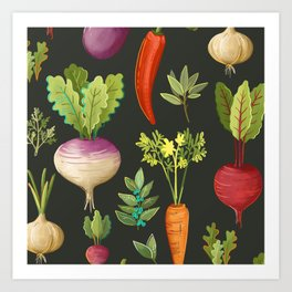 Garden Veggies Art Print