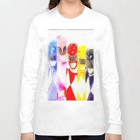 power rangers Long Sleeve T-shirts featuring Power Rangers by americanmikey