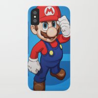 mario iPhone & iPod Cases featuring Mario by Ryan Ketley