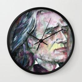 FRANZ LISZT - watercolor portrait.2 Wall Clock
