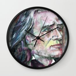 FRANZ LISZT - watercolor portrait.2 Wall Clock