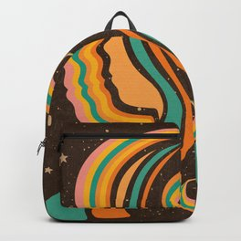 Look Within, Retro, Psychedelic, Mid Century Art Backpack
