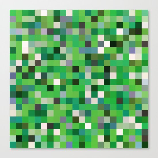 Pixel Painting Canvas Print