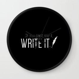 Writing urges #1 Wall Clock