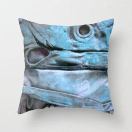 Blue blue Throw Pillow