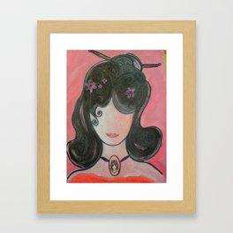 MY Girl Emiko Framed Art Print