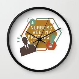 Funny Accountant Bookkeeper Student Cpa Wall Clock