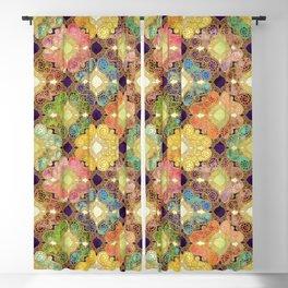 Marrakesh Flowers violet Blackout Curtain