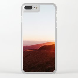 Hills on Fire - 35mm Film Clear iPhone Case