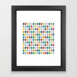 Colourful Money Repeat Framed Art Print