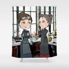 Woman in Science: The Curies Shower Curtain