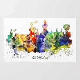 Cracow skyline color Rug