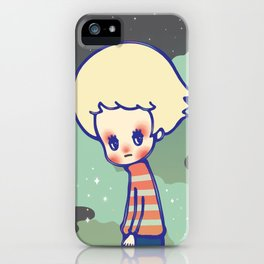 displaced person iPhone Case