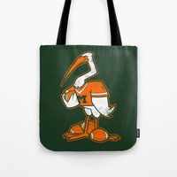 miami Tote Bags featuring Miami by jublin