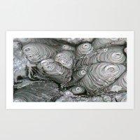 Abstract Thermal Mud Art Print