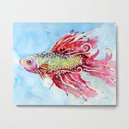 Fish Swim Metal Print