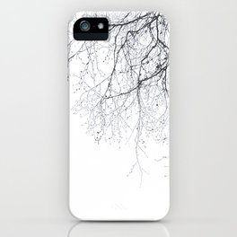 BLACK BRANCHES iPhone Case