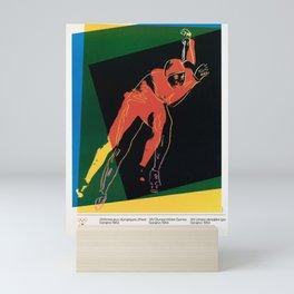 placard sarajevo 1984 yougoslavie 16e jeux Mini Art Print