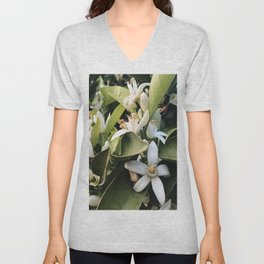 Jasmines with a Bee Unisex V-Neck