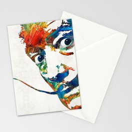 Colorful Dali Art by Sharon Cummings Stationery Cards