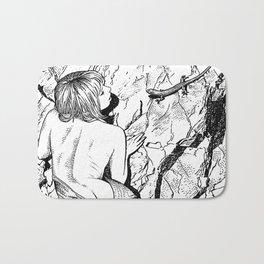asc 347 - La fille mordue par un lézard (Girl bitten by a lizard) Bath Mat