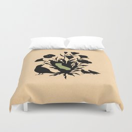 California - State Papercut Print Duvet Cover