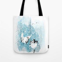 Dancing in the snow Tote Bag