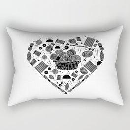 I Love Knitting | Wool Needle Heart Sewing Hobby Rectangular Pillow