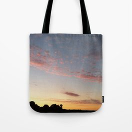 Pink California Sunset Tote Bag