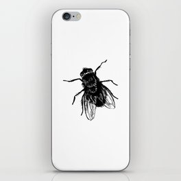 Drawing house-fly iPhone Skin